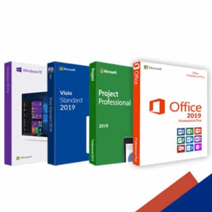 COMBO 2: Windows 10 Professional  Office 2019 Professional Plus  Visio 2019 Professional  Project 2019 Professional